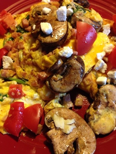 Omelette from the DX Ranch Kitchen, ranch food, ranch life, ranching, south dakota ranching