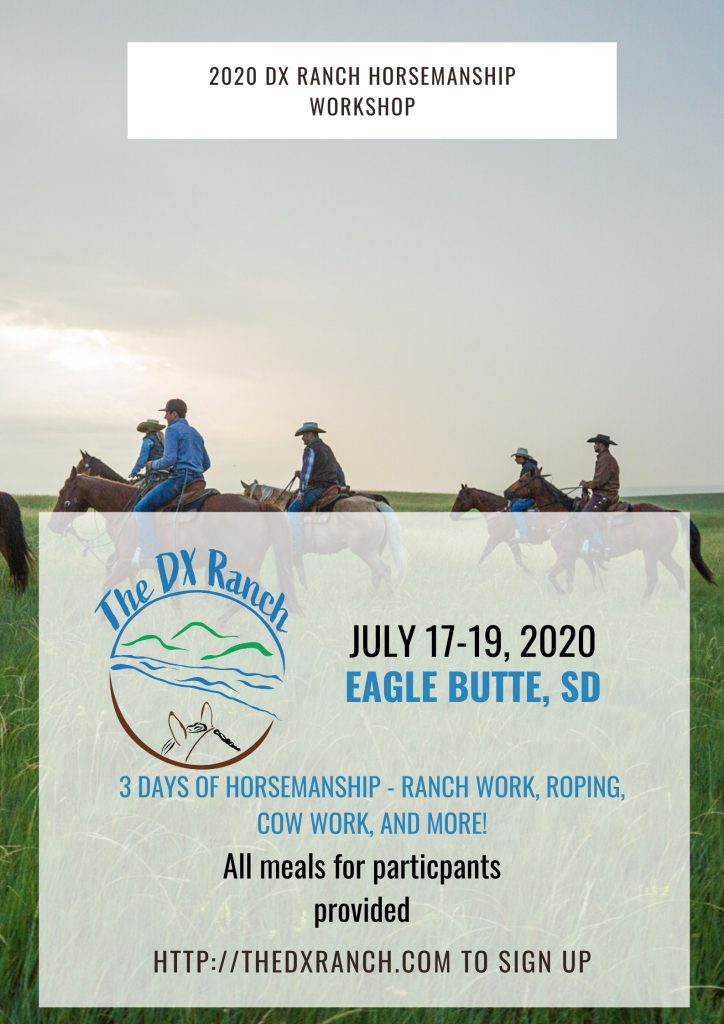 2020 dx ranch horsemanship workshop