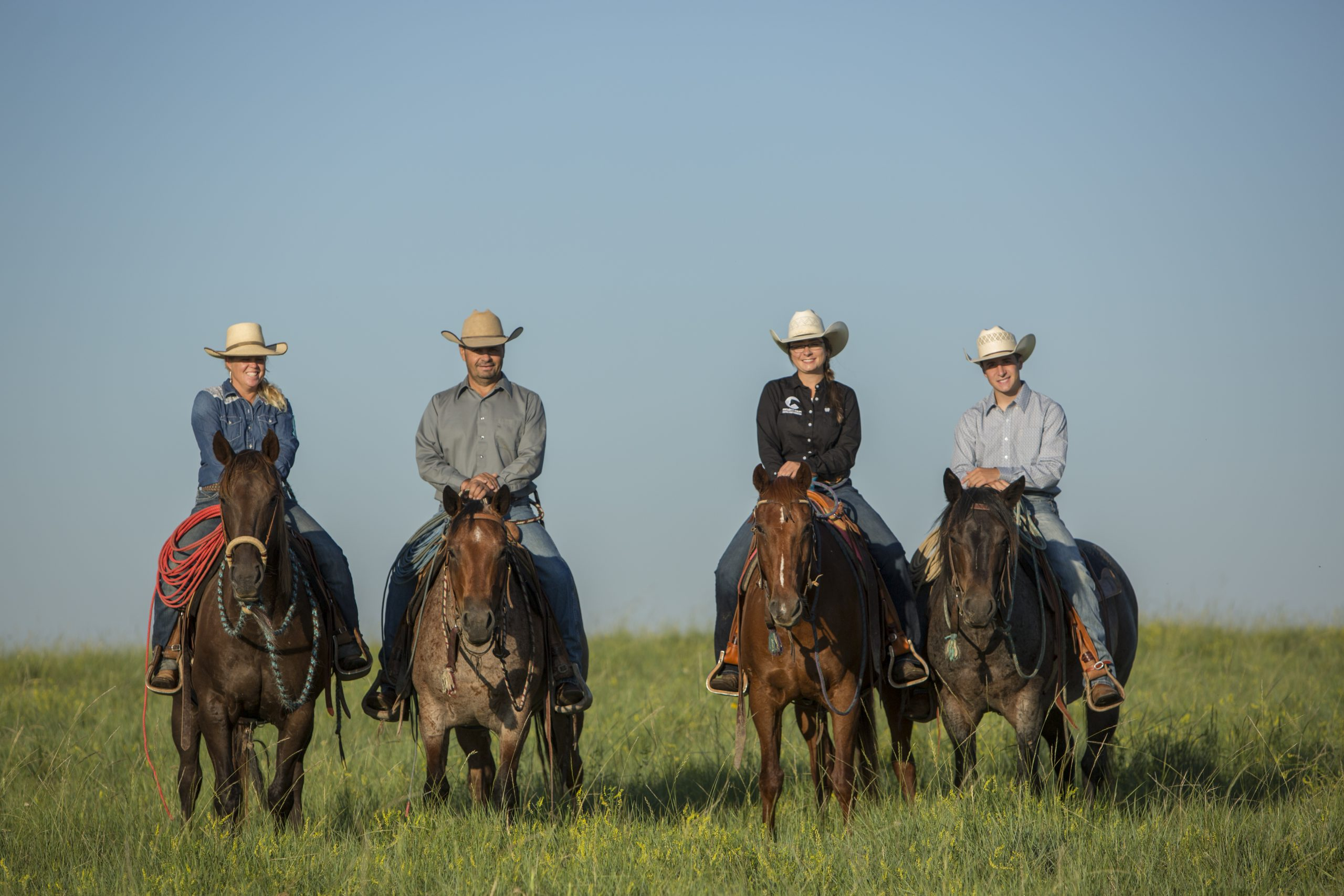 the dx ranch crew, shot for western horseman
